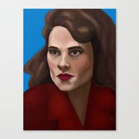 agent carter Canvas Prints featuring Agent Carter by Forticule