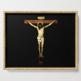 picture of Jesus  III – Velasquez -Christ Crucified 1632 - Serving Tray