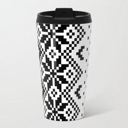 Black & White Pattern Travel Mug