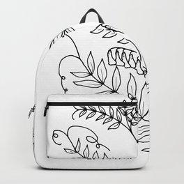 Blue Vetch line art Backpack