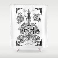 zen Shower Curtains featuring Zen by Implicitprint