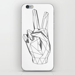 Geometric Peace sign iPhone Skin