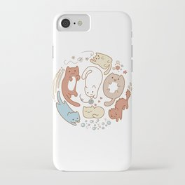 Seven cute cats. iPhone Case