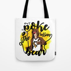 Don't Poke the Russian Bear Tote Bag