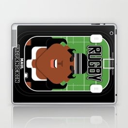 Rugby Black - Maul Propknockon - Aretha version Laptop & iPad Skin