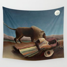 The Sleeping Gypsy by Henri Rousseau Wall Tapestry