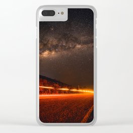 The Red Sky Road (Color) Clear iPhone Case