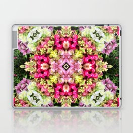 Floral gathering holistic inspirational Mandala Laptop & iPad Skin