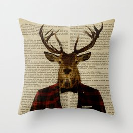 Lord Stag Throw Pillow