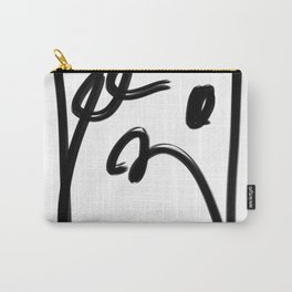 Springs in Spring Black Line Abstract  Carry-All Pouch