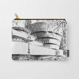 Guggenheim Museum Caricature - Frank Lloyd Wright Carry-All Pouch