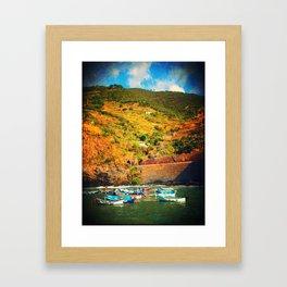 Italian Marina  Framed Art Print