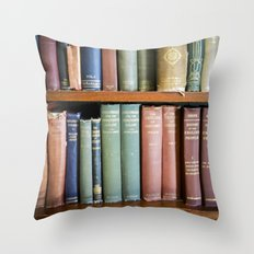Library Wisdom Throw Pillow