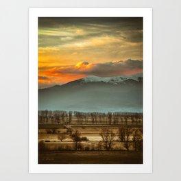 Sunset field II Art Print