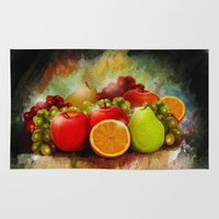 fruits Area & Throw Rugs featuring fruits by ErsanYagiz