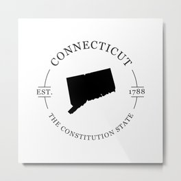 Connecticut - The Constitution State Metal Print