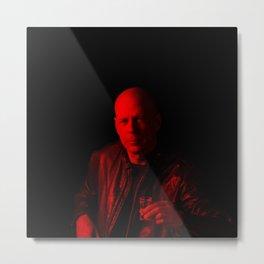 Bruce Wills - Celebrity (Photographic Art) Metal Print