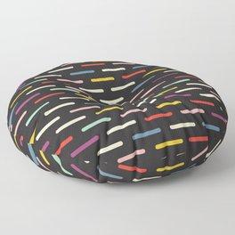 Modern Scandinavian Dash Multi Colour Color Black Floor Pillow