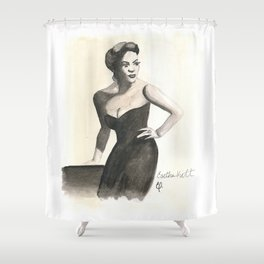 Black HERstory: Eartha Shower Curtain