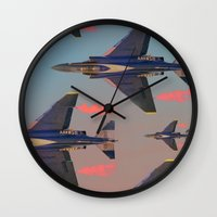 planes Wall Clocks featuring planes planes planes by Sarah Brust