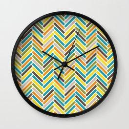 Retro Herringbone {Multi} Wall Clock