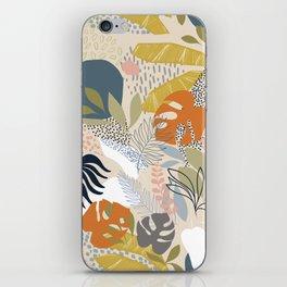 Tropical Foliage Pattern 1 - Retro Boho iPhone Skin