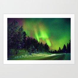 Northern Lights over Jerisjarvi, Finland Art Print