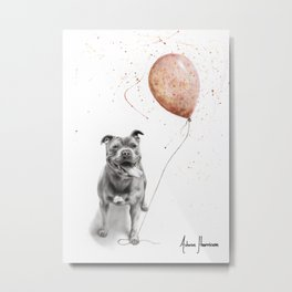 Molly and The Balloon Metal Print