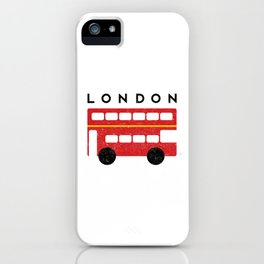 London Double Decker Red Bus iPhone Case