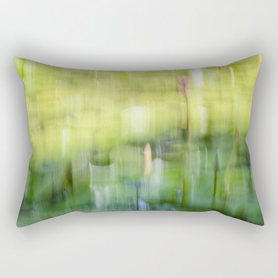 Tropical Impressionism - Lily Pond Rectangular Pillow