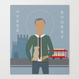 Mr. Rogers Icon Canvas Print
