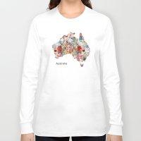 australia Long Sleeve T-shirts featuring Australia by bri.buckley