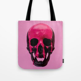 Pink Dripping Skull Tote Bag