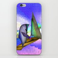 sailing iPhone & iPod Skins featuring Sailing by Digital-Art