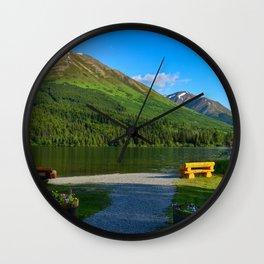 Summit Lake - Kenai Peninsula, Alaska Wall Clock