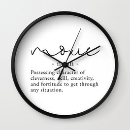 Moxie Definition - Minimalist Black Wall Clock