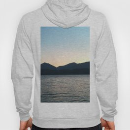 Sunset and Crescent Moon over the Water Hoody
