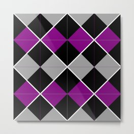 Queer Plaids - Ace Argyle Metal Print