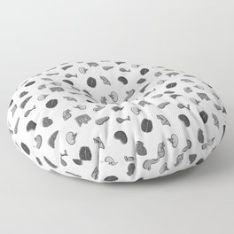 Organs, in Monochrome Floor Pillow
