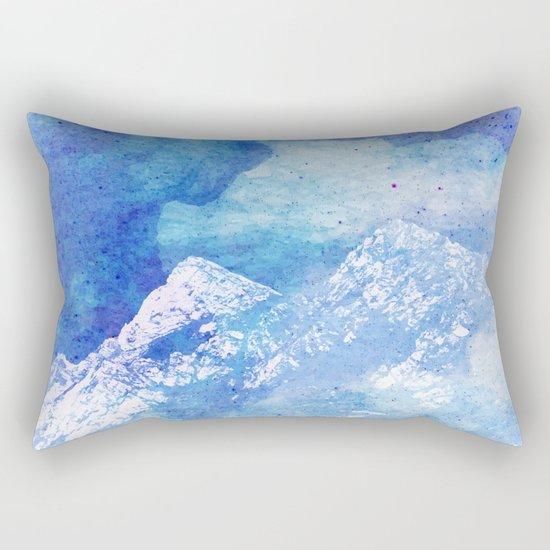 Snowy Mountain #society6 #decor #buyart Rectangular Pillow