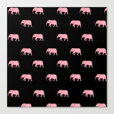 pink elephants Canvas Print