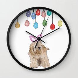 Happy Easter - Fluffy Bunny Wall Clock
