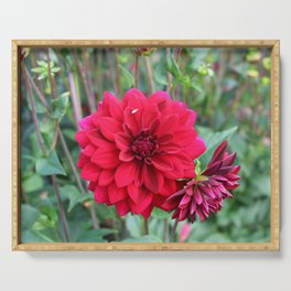 Blooming Red Serving Tray
