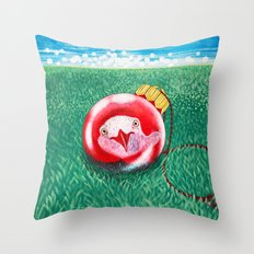 New Year Ball Throw Pillow