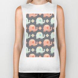 Elephants Biker Tank