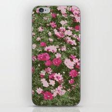 Pink flower bed art print iPhone & iPod Skin