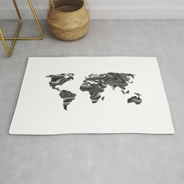 Marble World Map II Rug