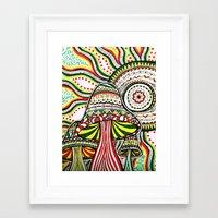 rasta Framed Art Prints featuring Rasta by Marcela Caraballo
