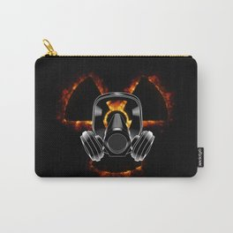 Gas mask and radiation icon Carry-All Pouch