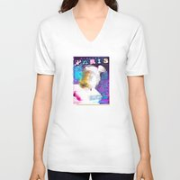 posters V-neck T-shirts featuring Paris Posters - Hermez by G_Stevenson